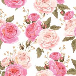 Papel de Parede Roses Soft