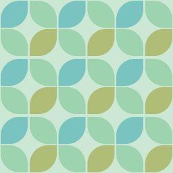 Papel de Parede Simétrico Verde