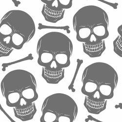 Papel de Parede Skull Clean