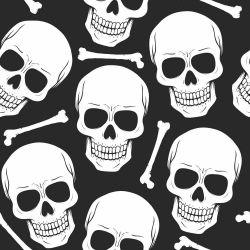 Papel de Parede Skull Dark