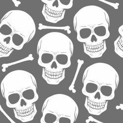 Papel de Parede Skull Gray