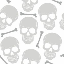 Papel de Parede Skull Light
