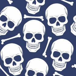 Papel de Parede Skull Navy