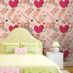 Papel de Parede Splash of Love Pink