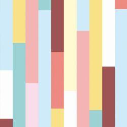 Papel de Parede Tábuas Coloridas