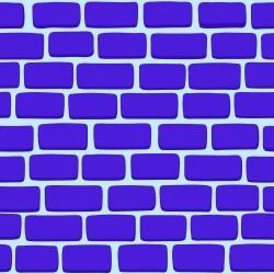 Papel de Parede Tijolos 2D Azul