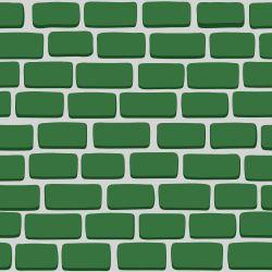 Papel de Parede Tijolos 2D verde