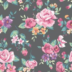 Papel de Parede Vintage Tropical Flower