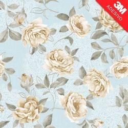 Papel de Parede Vintage white roses