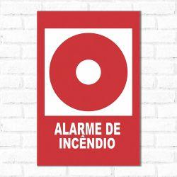 Placa Decorativa Alarme de Incêndio