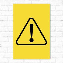 Placa Decorativa Alerta Geral
