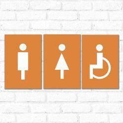 Placa Decorativa Banheiro Branco