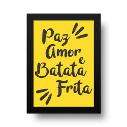 Placa Decorativa Batata Frita