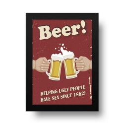 Placa Decorativa Beer Retro