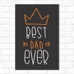 Placa Decorativa Best Dad