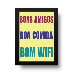 Placa Decorativa Bons Amigos