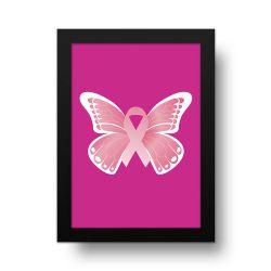 Placa Decorativa Borboleta Outubro Rosa