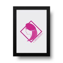 Placa Decorativa Cabeleireira Girl