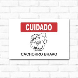 Placa Decorativa Cachorro Bravo