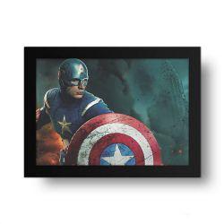 Placa Decorativa Capitão America