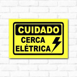 Placa Decorativa Cerca Elétrica