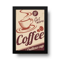 Placa Decorativa Coffe Retrô