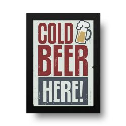 Placa Decorativa Cold Beer
