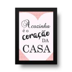 Placa Decorativa Coração da Casa