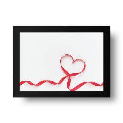 Placa Decorativa Coração de Fita