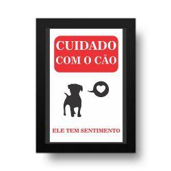 Placa Decorativa Cuidado Com o Cão