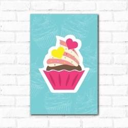 Placa Decorativa Cup Cake