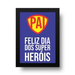 Placa Decorativa Dia dos Super heróis