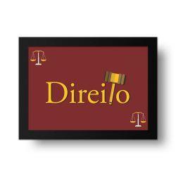 Placa Decorativa Direito