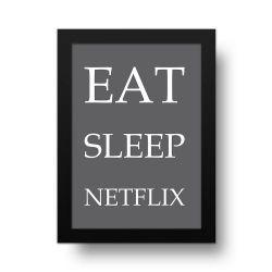 Placa Decorativa Eat and Sleep