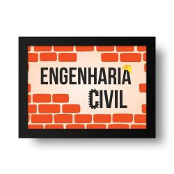 Placa Decorativa Engenharia Civil