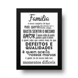 Placa Decorativa Família é Quem