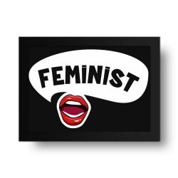 Placa Decorativa Feminist