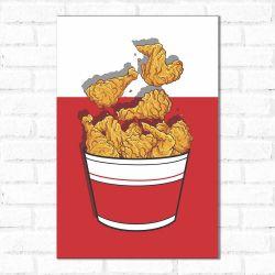 Placa Decorativa Frango Frito