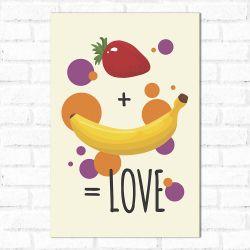 Placa Decorativa Fruit is Love