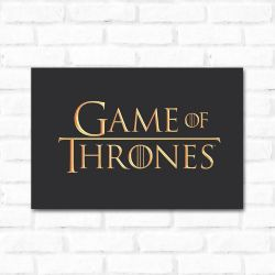 Placa Decorativa Game Of Thrones