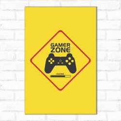 Placa Decorativa Gamer Zone