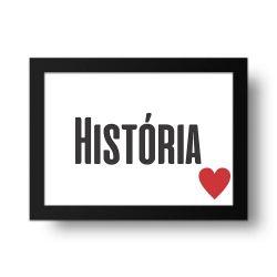 Placa Decorativa História