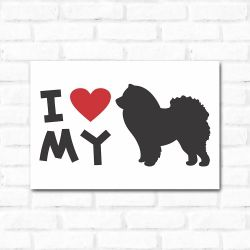 Placa Decorativa I Love My Chow Chow