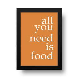 Placa Decorativa Is Food