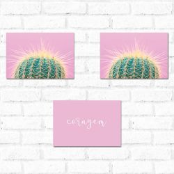 Placa Decorativa Kit Cactus