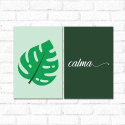 Placa Decorativa Kit Calma