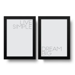 Placa Decorativa Kit Dream Big