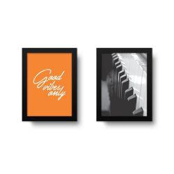 Placa Decorativa Kit Good Vibes Only