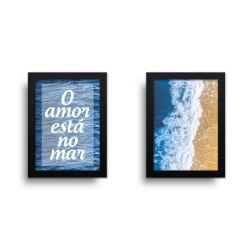 Placa Decorativa Kit O Amor Esta No Mar