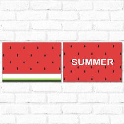 Placa Decorativa Kit Summer Watermelon